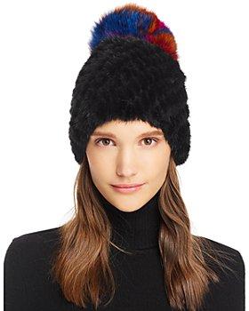 Maximilian Furs - Mink & Fox Fur Knit Hat