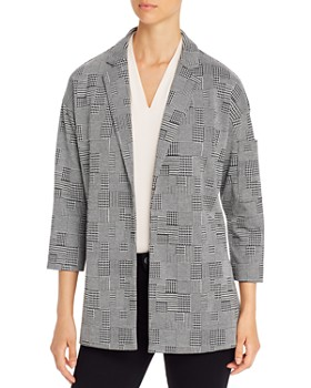 Lyssé - Liberty Mixed-Houndstooth Open Blazer