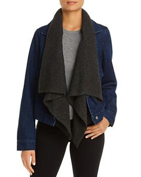 Bagatelle - Denim Jacket with Removable Knit Trim