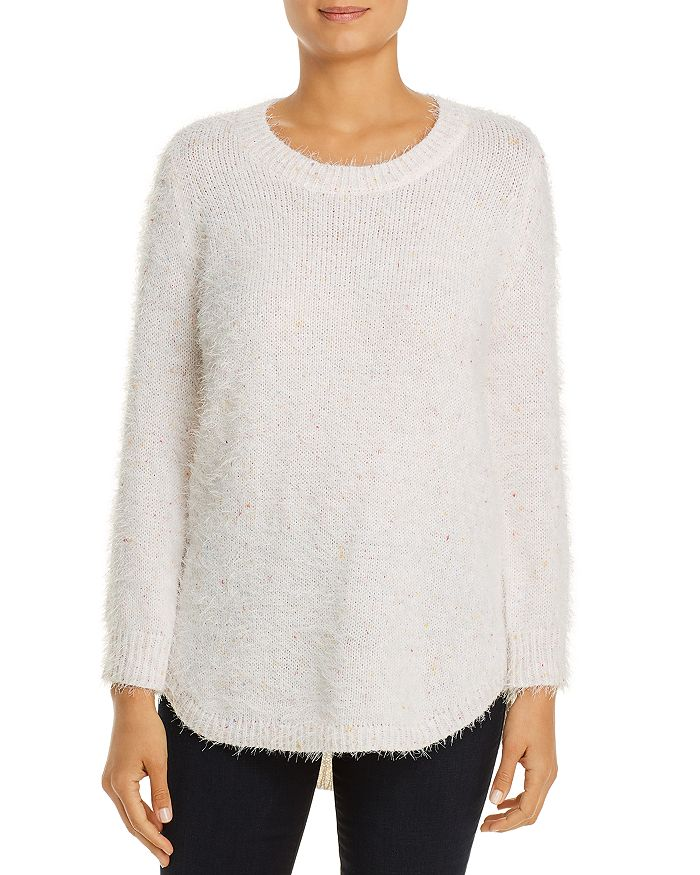 Alison Andrews Speckled Sweater In Marshmellow