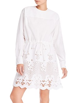 See by Chloé - Long Sleeve Crochet Detail Dress
