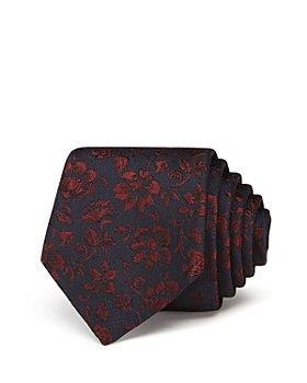 Paul Smith - Dark Small Floral Skinny Necktie