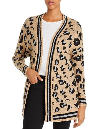 Vintage Havana - Leopard Jacquard Open Cardigan