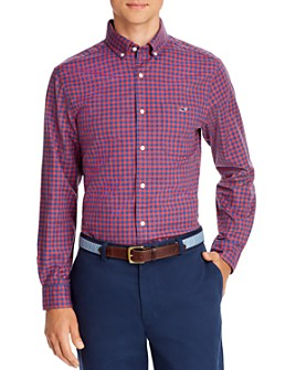 Vineyard Vines - Twill Tucker Check-Print Classic Fit Button-Down Shirt