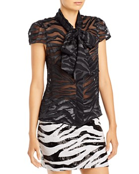 Alice and Olivia - Jeannie Bow-Collar Blouse