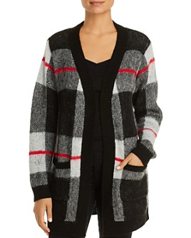 Alison Andrews - Plaid Open Cardigan