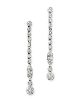 Bloomingdale's - Diamond Linear Drop Earrings in 14K White Gold, 1.0 ct. t.w. - 100% Exclusive