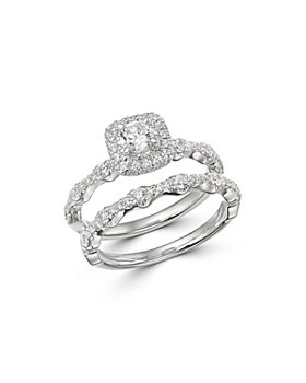 Bloomingdale's - Diamond Engagement Ring & Band Set in 14K White Gold, 1.0 ct. t.w. - 100% Exclusive