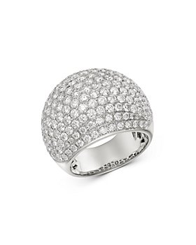 Bloomingdale's - Pavé Diamond Dome Ring in 14K White Gold, 4.50 ct. t.w. - 100% Exclusive