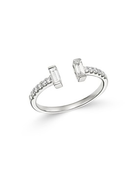 Bloomingdale's - Round & Baguette Diamond Ring in 14K White Gold, 0.35 ct. t.w. - 100% Exclusive