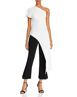 Cushnie Asymmetric One-Shoulder Tunic Top