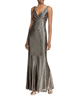 Ralph Lauren - Metallic Sleeveless Gown