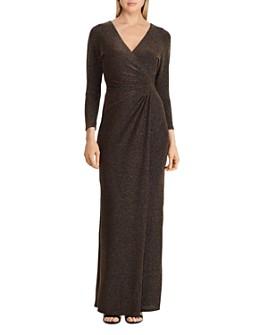 Ralph Lauren - Metallic Ruched Gown