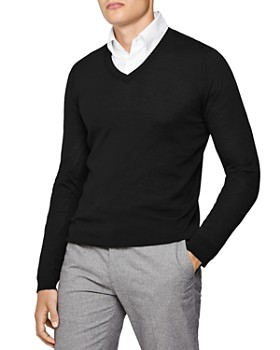 REISS - Earl V-Neck Slim Fit Sweater