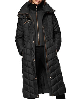 Marc New York - Diamond-Quilted Lacquer Puffer Coat