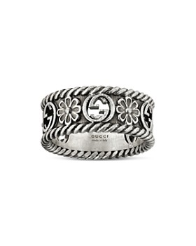Gucci - Sterling Silver Interlocking G Ring