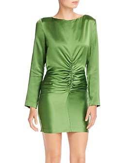 Michelle Mason - Ruched Silk Mini Dress