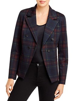 Bagatelle - Plaid Double-Breasted Blazer