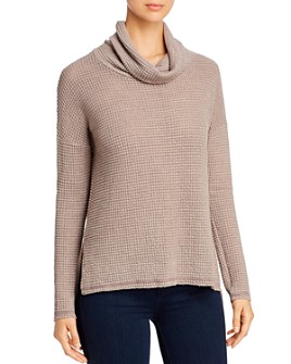 Elan - Textured Cowl-Neck Top