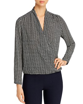Vero Moda - Individual Long Sleeve Faux Wrap Top