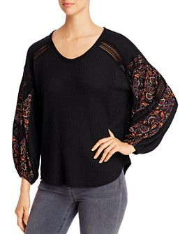 Single Thread - Print-Sleeve Top