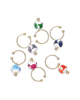 Joanna Buchanan - Chinoiserie Wine Charms, Set of 6