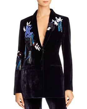 Cushnie - Embellished Velvet Shawl-Collar Blazer