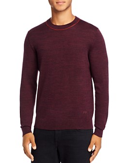 PS Paul Smith - Contrast Trim Merino Wool Pullover Sweater