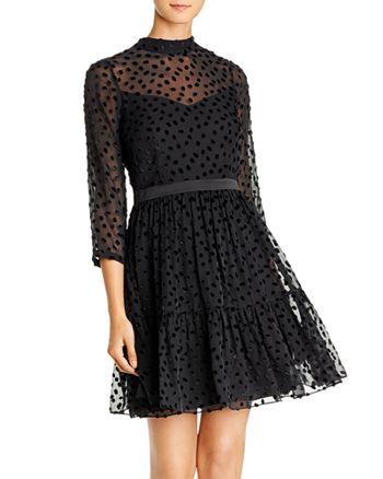Rebecca Taylor - Flocked Dot Dress