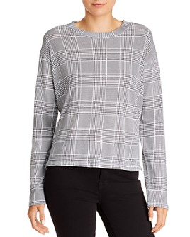 LNA - Strike Plaid Long-Sleeve Tee