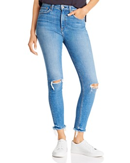 rag & bone - Nina High-Rise Skinny Ankle Jeans in Colville With Holes