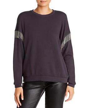 LNA - Chain-Fringed Drop-Shoulder Sweatshirt