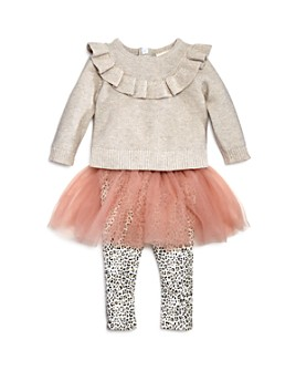 Miniclasix - Girls' Sparkle Sweater & Tutu Leggings Set - Baby