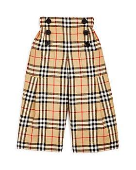 Burberry - Girls' Taren Vintage Check Wool Sailor Pants - Little Kid, Big Kid