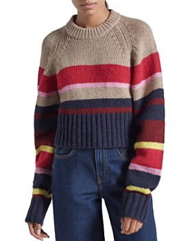 Current/Elliott - The Moonshine Striped Cropped Sweater