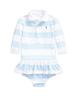 Ralph Lauren - Girls' Striped Rugby Dress & Bloomers Set - Baby