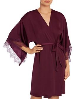 Midnight Bakery - Rose Noir Satin Wrap Robe