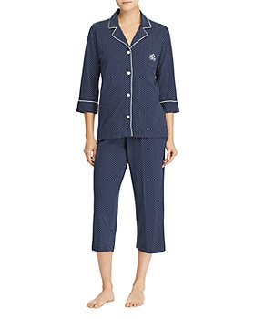 Ralph Lauren - Bingham Knits Cotton Jersey Cropped PJ Set