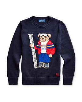 Ralph Lauren - Boys' Ski Bear Sweater - Big Kid