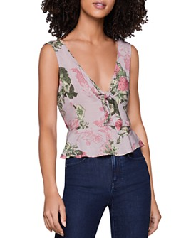 BCBGENERATION - Tie Peplum Top