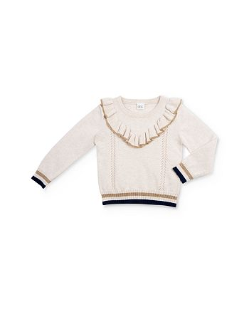 EGG new york - Girls' Sadie Ruffled Sweater - Baby