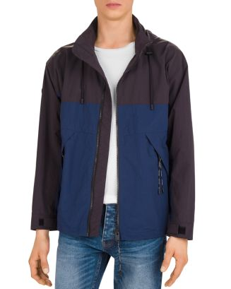 Impermeable Two Tone Hooded Jacket by The Kooples