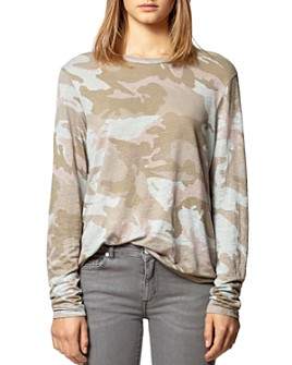 Zadig & Voltaire - Willy Linen Camo-Printed Top