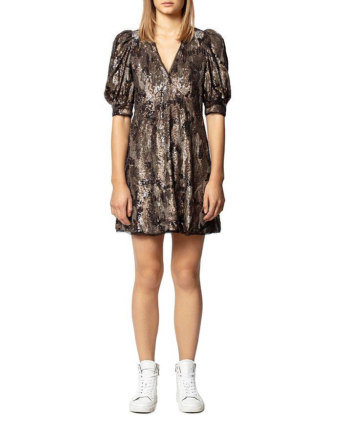Zadig & Voltaire - Royals Sequin Camo Mini Dress