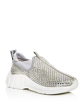 Miu Miu - Women's Rhinestone Embellished Low-Top Sneakers
