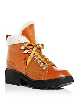 Chloé - Women's Bella Shearling Platform Mountain Booties