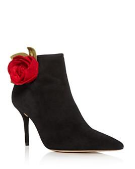Charlotte Olympia - Women's Flower Pointed-Toe High-Heel Booties