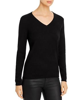 Donna Karan - V-Neck Cashmere Sweater