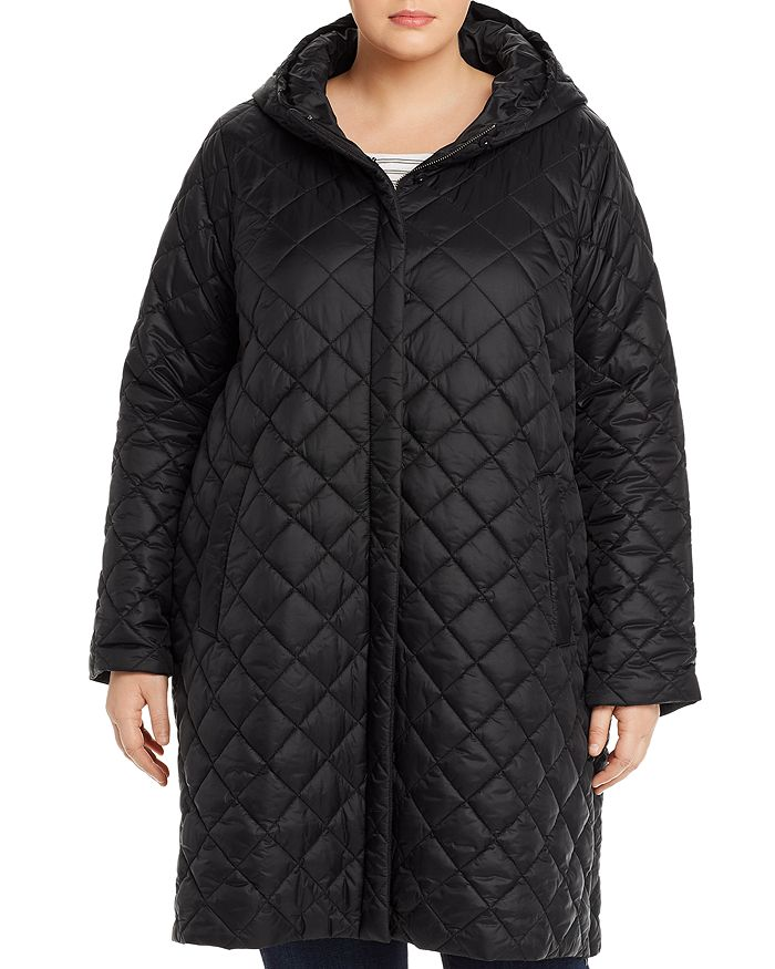 Eileen Fisher Plus - Diamond-Quilted Coat