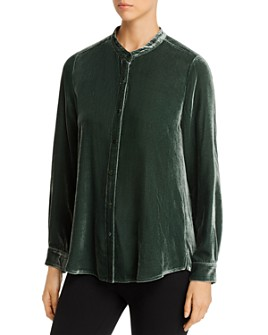 Eileen Fisher - Velvet Button-Down Blouse